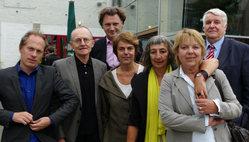 v.l.n.r.: Matthias von Hartz, Wilfried Maier, Claus Friede, Amelie Deuflhardt, Adrienne Goehler, Catarina Felixmüller, Helmut Sander